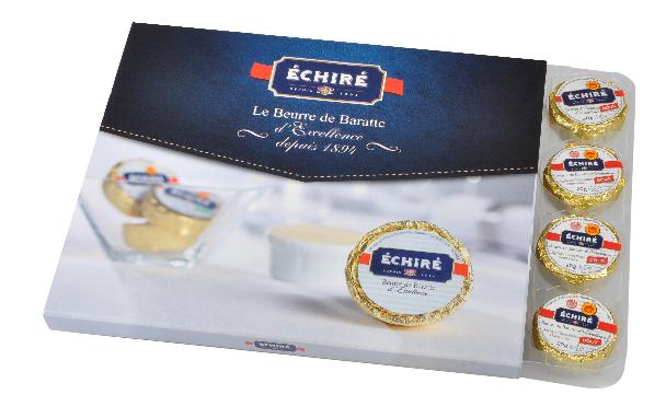 Beurre Echiré - Coffret recharge doux - 20g - Excellence Française - Baratte en bois - Echiré