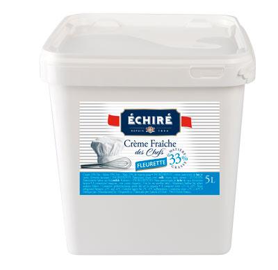 Crème fraîche fleurette 33% - seau de 5L - Echiré