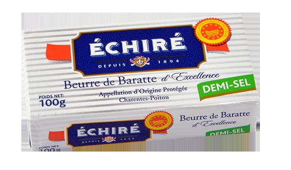 Plaquette de 100g - Beurre Demi-sel - Baratte en Bois - Echiré