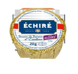 Beurre Echiré - Recharge Algues - 20g - Excellence Française - Baratte en bois - Echiré