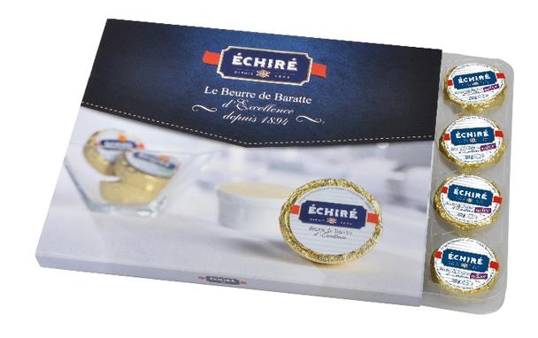 Beurre Echiré - Coffret recharge algues - 20g - Excellence Française - Baratte en bois - Echiré
